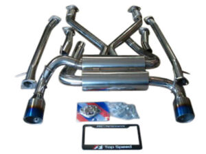 Top Speed Pro 1 Titanium Tips Cat Back Exhaust For 2009 2016 Nissan 370z Z34
