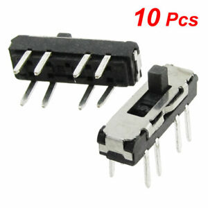 10 Pcs Vertical Double Row 8 Pin On Off On 3 Position 2p3t Mini Slide Switch