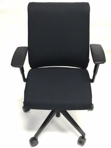 Steelcase Black Fabric Think Chair