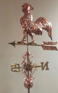 Rooster Weathervane Beautiful Large Quality Made Copper Complete As Shown