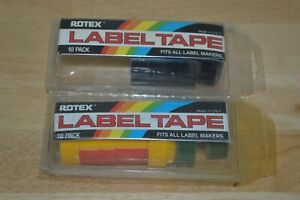 New Lot Of Rotex Embossing Tape Blue Yellow Green 1 2 Label Labeling