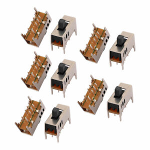 20pcs 3 Position 8p 2p3t Panel Mount Mini Slide Switch Latching Power Switch