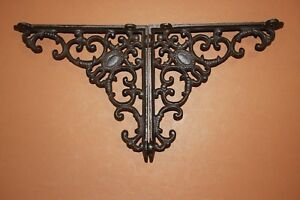3 Pcs Elegant Victorian Design Vintage Look Cast Iron Shelf Brackets 8 B 29