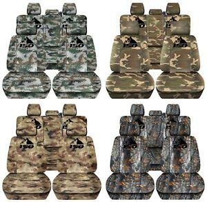 Truck Seat Covers Custom Camouflage Design Fits 2015 2018 Ford F150 Front Rear