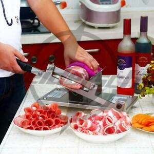 Stainless Manual Control Meat Slicer Cutting Beef Mutton Sheet Food New