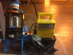 Eaton Et 1000 001 Hydraulic Crimper With Power Supply And Crimp Die