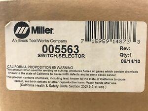 Miller Welding Switch Selector 005563