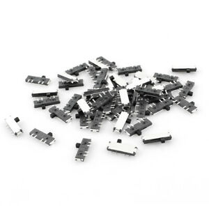 50 Pcs On off on 3 position 8 Pin Dpdt Mini Smd Smt Slide Switch 10mm X 3mm