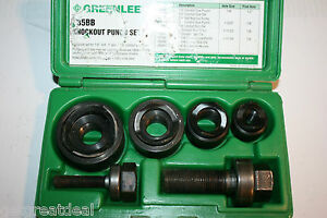 Greenlee Standard Round Manual Knockout Punch Kit For Conduit Size 0 5 1 25