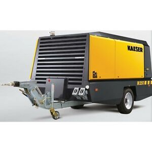 New Kaeser M250 Towable Diesel Air Compressor Tier Iv Final Kaeser M250