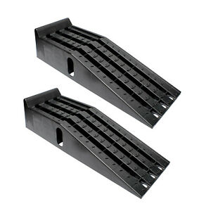 Bisupply Vehicle Service Ramp Set 6 3 Inch Lift 2 Ton Truck Ramps 2 Pack