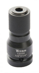 Titan 12039 1 2 Dr To 1 4 Hex Quick Change Impact Adapter
