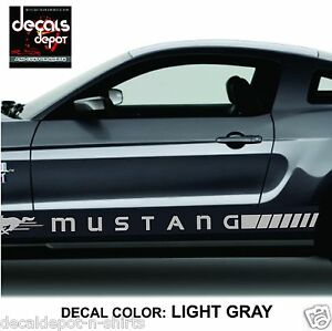 Ford Mustang Racing Stripes Side Rocker Stripes And Fender Stripes Decal Vinyl