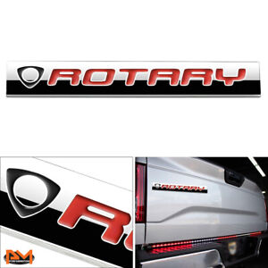 rotary Polished Metal 3d Decal Black red Emblem Exterior Sticker For Mazda