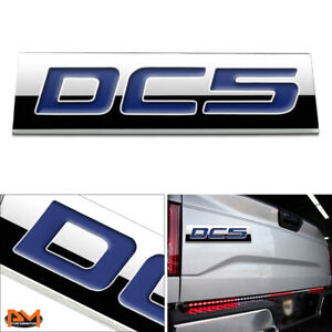 dc5 Polished Metal 3d Decal Blue Emblem Exterior Badge For 02 06 Acura Rsx