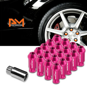 M12x1 5 Pink Jdm Open end Acorn Hex Wheel Lug Nuts extension 25mmx50mm Tall 20pc