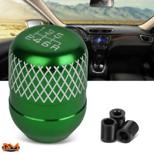 Jdm Universal Netted Style Manual Transmission 6 Speed Shift Knob 42mm Green