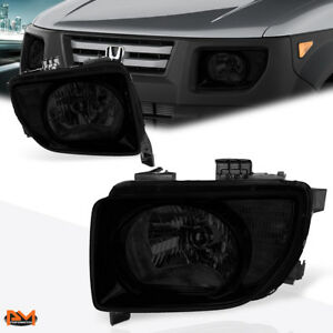 For 03 08 Honda Element Smoked Lens Clear Side Corner Headlight Lamp Replacement