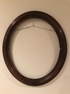 Vintage 17x14 Oval Wood Picture Frame C 1970s B
