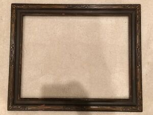 Antique 26x20 Large Dark Arts Crafts Period Picture Frame C 1940s B