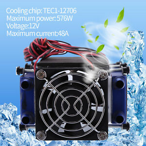 12v 576w 8 chip Tec1 12706 Thermoelectric Cooler Radiator Air Cooling Device New