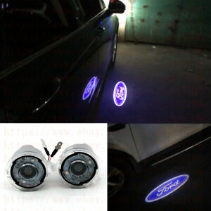 2x Ghost Shadow Leds Side Rear View Mirror Puddle Lights For Ford F150 2007 2014