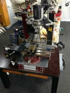 Custom Built Benchtop Mill Milling Machine Powered Axes Superb Condition
