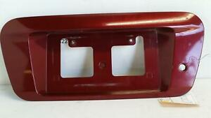 2003 Nissan Altima Tail Finish License Plate Trim Panel Moulding Red A15