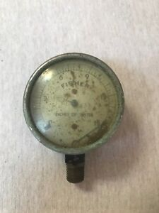 Fisher Inches Of Water Gauge Steampunk Rustic Vintage