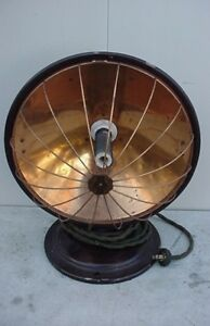 Antique Old Universal Electric Heater 12 Inches Round 115 Volts
