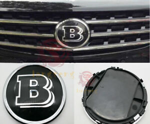 Brabus B Style Front Grille Badge Black Emblem For Mercedes Benz A B C E R Class