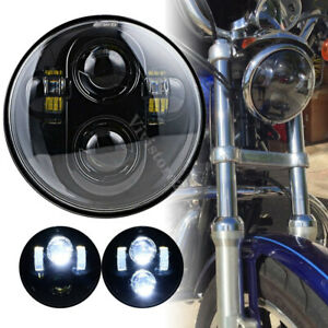 5 3 4 5 75inch Led Hi lo Beam Headlight For Harley Motorcycle Projector Lamp Dot