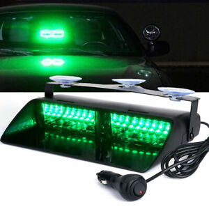 Car 16 Led Green Strobe Flash Light Dash Emergency Decoration Flashing Light