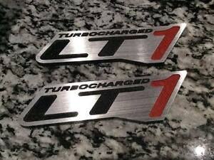 Turbocharged Lt1 Hotrod Fender Badge Emblems Lt1 Lt4 Camaro Firebird Musclecar