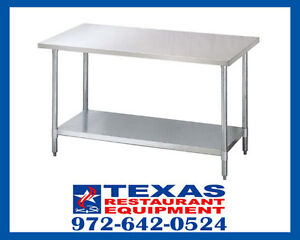 New Turbo Air 24 X 96 Stainless Steel Prep Work Table Tsw2496s