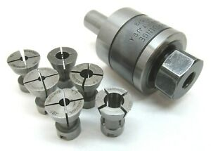 Hardinge tt Releasing Tap Holder W 5 8 Shank 6 Collet Set tt 5 8
