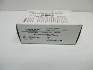 Ashcroft 63 1008 s 02l 100 Gauge New In Box
