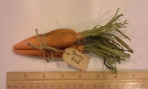 Grungy Primitive Style Carrot Bunch Of 3 Tag Bunny Food Spring Easter Bowl Fillr