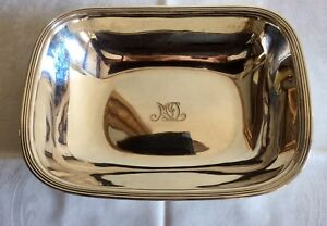 Tiffany Co Sterling Silver Serving Bowl Or Dish Reed Edge 1930s