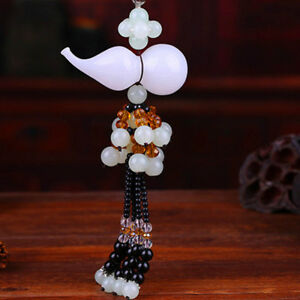 Kb Car Rear View Mirror Hanging Decoration Lucky Gourd Beads Car Pendant Grac