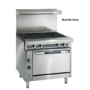Imperial Ihr 4 c Diamond Series 36 Range W 4 Burners Convection Oven