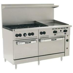 Vulcan 60ss 6b24g 60 In Range W 6 Burners And 24 In Griddle