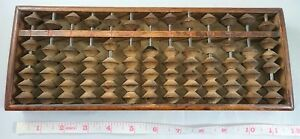 Japanese Abacus Calcurator Soroban Rare Antique 13 Columns Digits Wooden