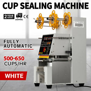 Electric Fully Automatic Cup Sealing Machine 420w Restaurants 110v Coffee Milk