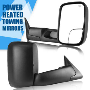 Fits 1998 2001 Dodge Ram 1500 2500 3500 Flip Up Power Heated Towing Mirrors L R
