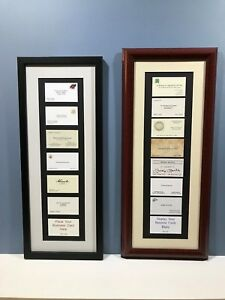 Display Your Business Cards custom Framing Professional Gift medical Legal
