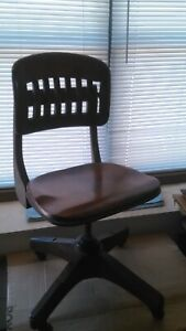Vintage Sikes Secretary s Office Desk Swivel Task Chair Hardwood Construction