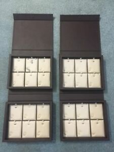 Earring Ring Pendant Set Display Travel Box Lot Of 4 Holds 24 Sets Brown Jewelry