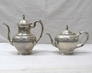 Vintage Set Of 2 Sterling Silver Tea Pot Coffee Pot Tea Kettle 1 007 Grams 9 7