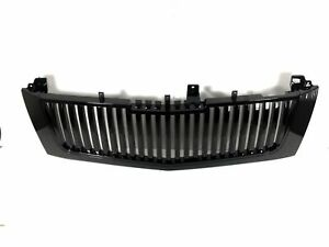 Cadillac Escalade Gloss Black Vertical Front Grille Grill Fit Years 2002 To 2006